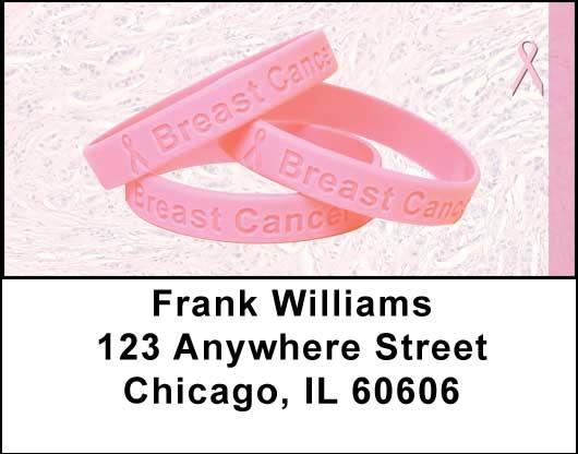 Breast Cancer Awareness Bracelets Address Labels