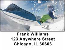 Snowboarding Address Labels