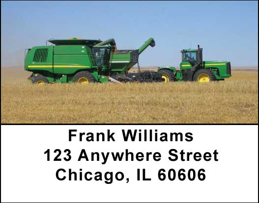 Big Green Machines Address Labels