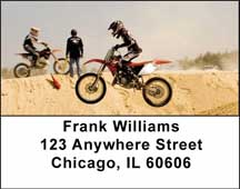 Motocross Cycles Address Labels