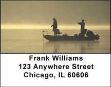 Gone Fishing Address Labels