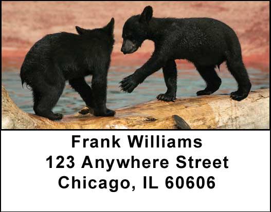 Black Bear Cubs Address Labels