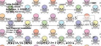 Colored Skulls Checks