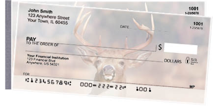 Big Horned Buck Deers Side Tear Personal Checks
