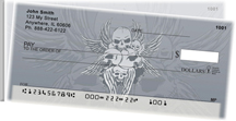 Stylish Skulls Side Tear Personal Checks