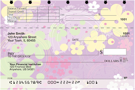 Aloha Flowers Top Stub Personal Checks