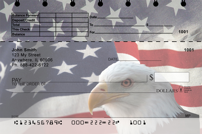 Soaring Over America Top Stub Personal Checks