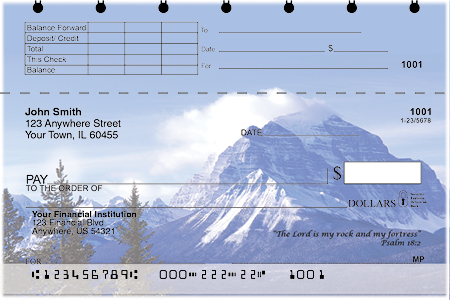 Scenic Scriptures Top Stub Personal Checks