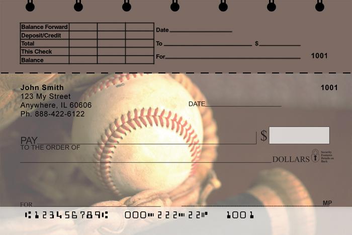Baseball Top Stub Personal Checks