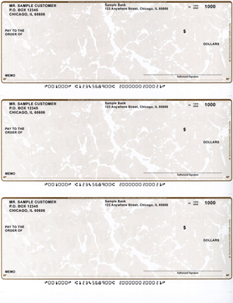 Gold Marble Business Laser / Inkjet Checks - 3 To A Page $ 19.99