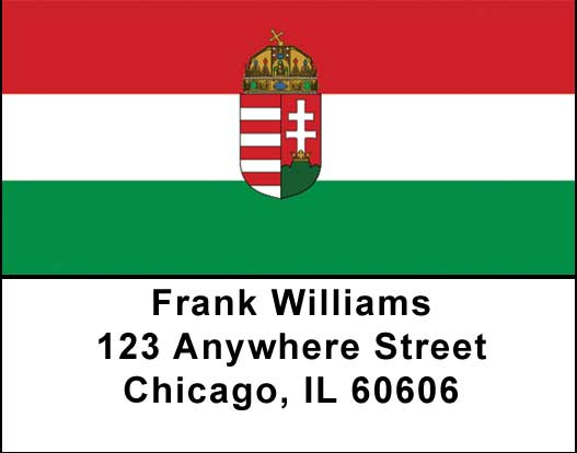 Hungarian Flag Address Labels