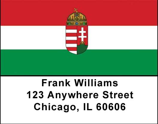 Hungarian Flag Address Labels