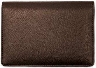 Dark Brown Leather Top Stub CheckBook Cover $ 16.99
