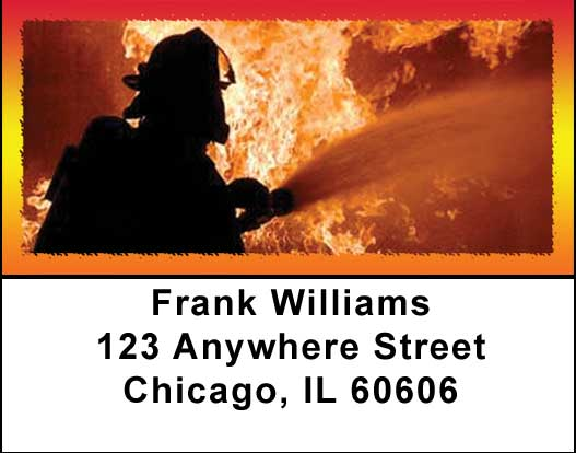 Fire Fighters Address Labels