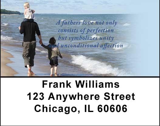 Fatherhood Address Labels by Sweet Intentions