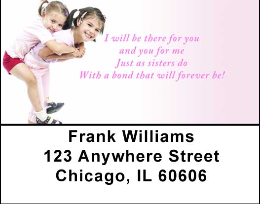 Sisters Address Labels by Sweet Intentions