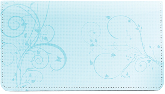 Vines Cloth Checkbook Cover