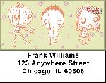 Dr. Krinkles' Creep Kids Address Labels